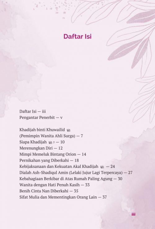 Daftar Isi Aisyah & Khadijah - AQWAM-5