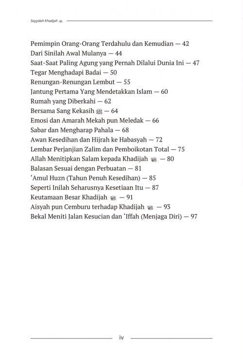 Daftar Isi Aisyah & Khadijah - AQWAM-6