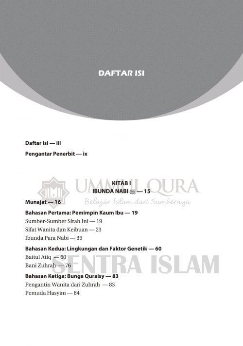 Daftar isi Biografi Istri dan Putri Nabi Ummul Qura-1 copy