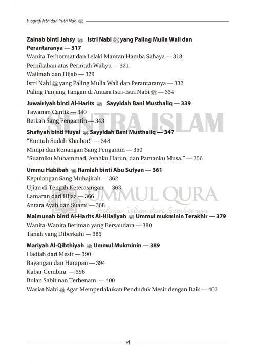 Daftar isi Biografi Istri dan Putri Nabi Ummul Qura-4 copy