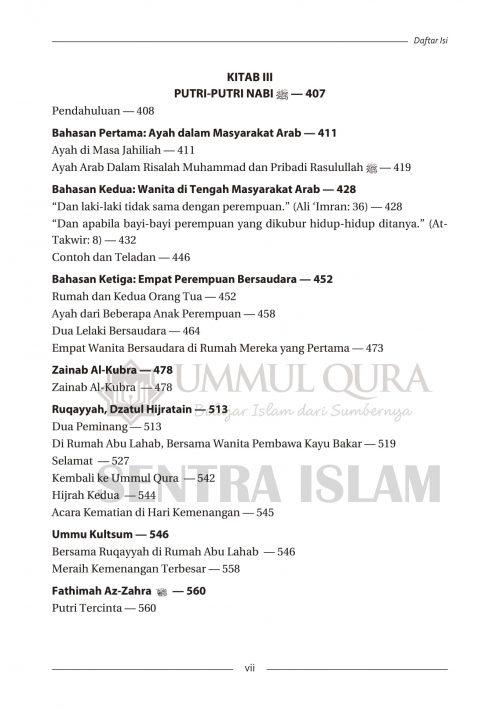 Daftar isi Biografi Istri dan Putri Nabi Ummul Qura-5 copy